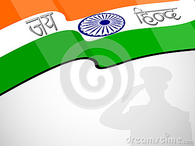 Indian flag waving background