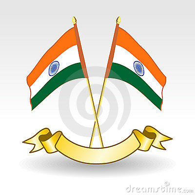 Indian Flags on white background.