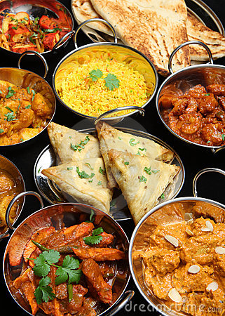 Indian Food Curry Banquet
