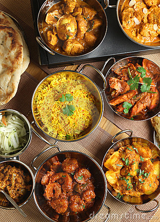 Free Indian Food Curry Meal Banquet Stock Photography - 17901112