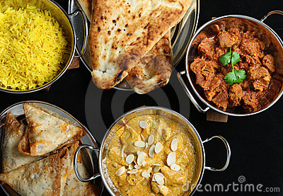 Indian Food Curry Meal Dishes
