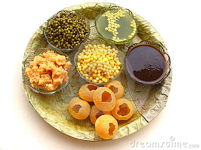 Indian Food-Pani Puri