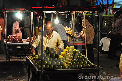 Indian fruit vendor Editorial Stock Photo