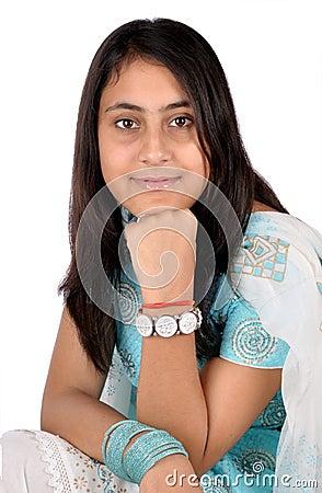 Indian girl in beautiful pose