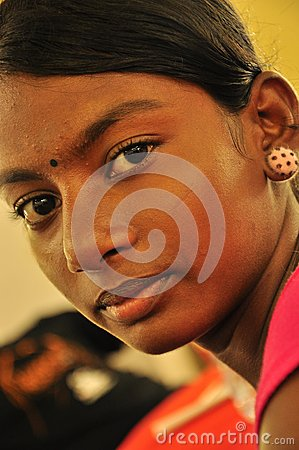Indian girl with bindi Editorial Photo