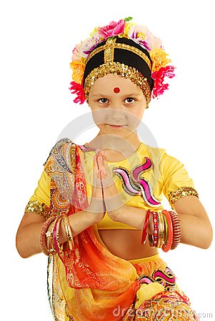Indian girl (dancer) in inviting posture