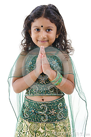 Indian girl greeting