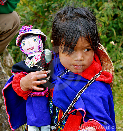 Indian Girl (guambiano tribe), Colombia Editorial Photo