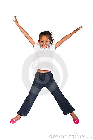 Indian girl jumping