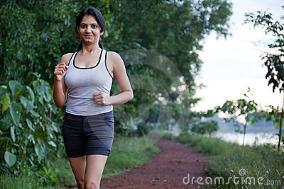 Indian Girl on morning exercise