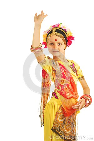 Indian girl performing dance