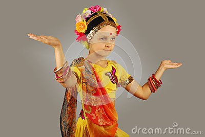 Indian girl performing dance