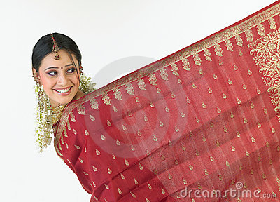 Indian girl with sari