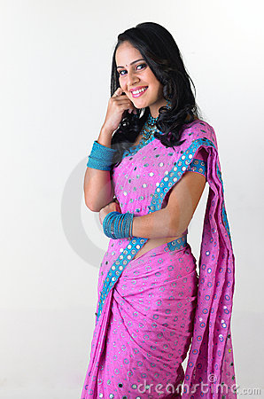 Indian girl in standing posture