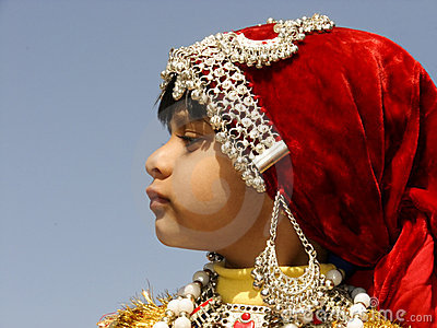 Indian Girl in Traditional dress