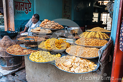 An Indian grocery store with culinary delights Editorial Stock Photo