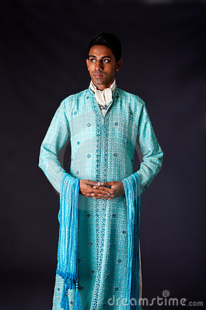 Indian groom wearing a Dhoti