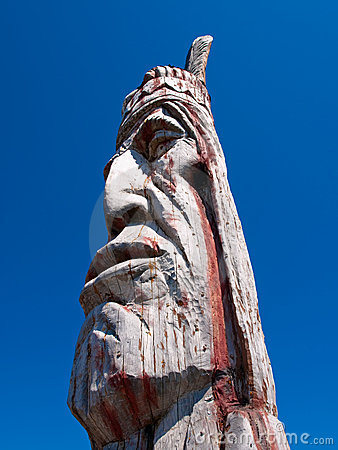 Indian Head Totem Pole