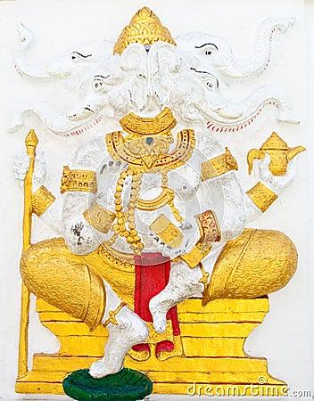 Indian or Hindu ganesha God Named Dwija Ganapati