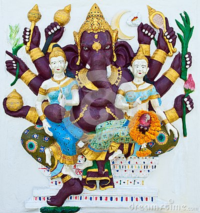 Indian or Hindu ganesha God Named Maha Ganapati