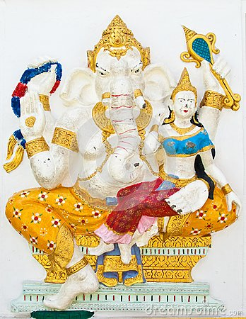 Indian or Hindu ganesha God Named Shakti Ganapati