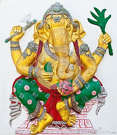 Indian or Hindu ganesha God Named Siddhi Ganapati