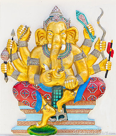 Indian or Hindu God Named Duraga Ganapati