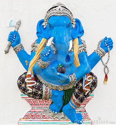 Indian or Hindu God Named Ekdanta Ganapati