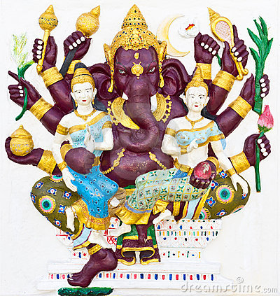 Indian or Hindu God Named Maha Ganapati