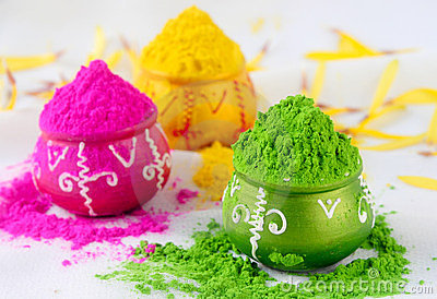 Indian holi colors