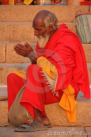 Indian holy man Editorial Stock Image