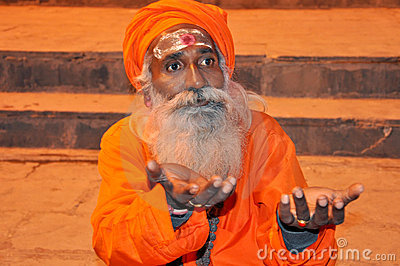 Indian Holy Man Editorial Stock Photo
