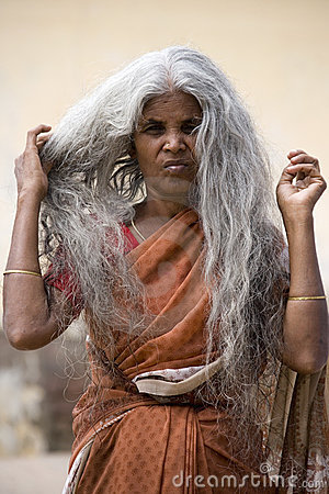 Indian lady in southern India Editorial Stock Photo