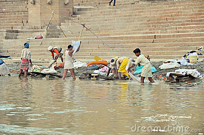 Indian Laundry in Varanasi Editorial Image