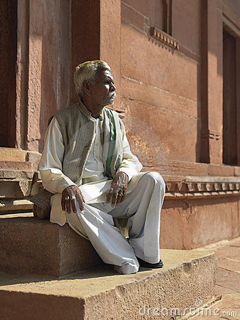 Indian man - Fatehpur Sikri - India. Editorial Photo