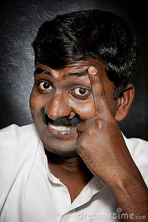 Indian man with moustache