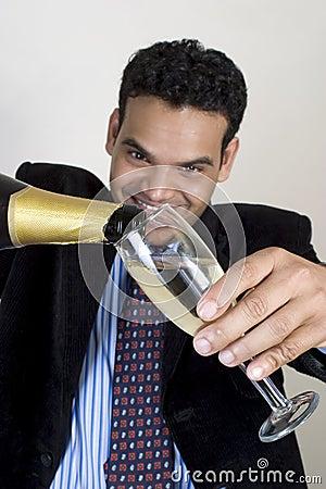 Indian man at party