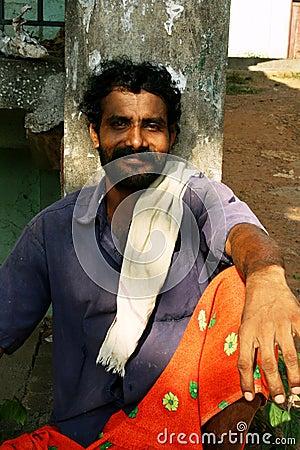 Indian man portrait Editorial Stock Photo