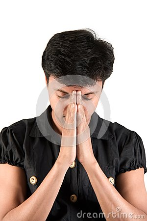 Indian Man praying