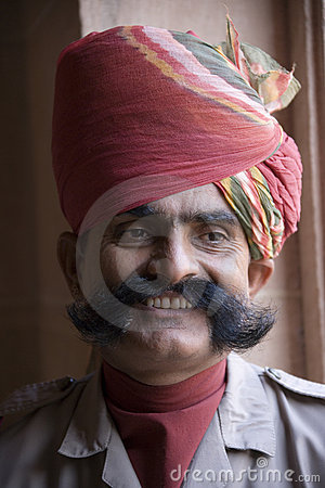 Indian man in Rajasthan Editorial Photography