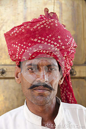 Indian Man in Turban Editorial Photo