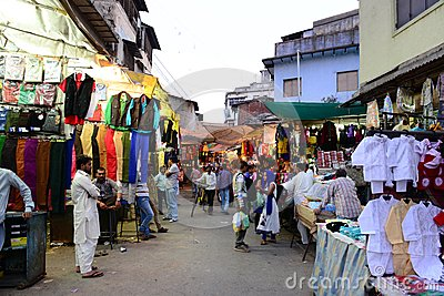 Indian Market Place Editorial Stock Photo