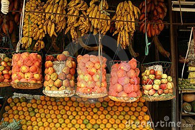 Stock Images  Indian market stallIndian Market Stall
