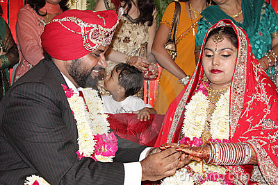 Indian Marriage ring ceremony Editorial Image
