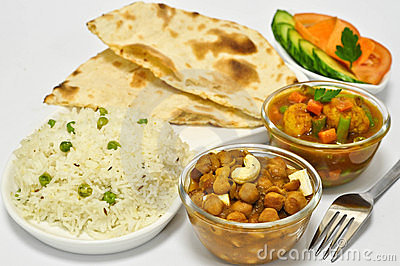 Indian Meal with Chickpeas
