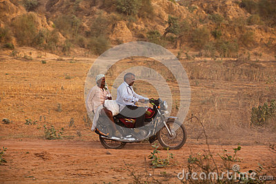 Indian men on Motorbike Editorial Photography
