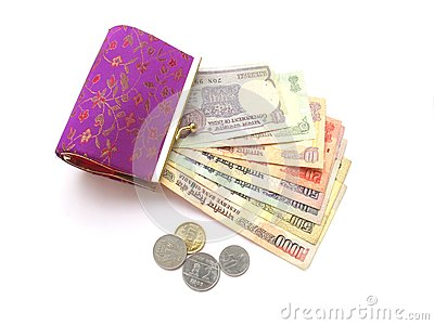 Indian Money and Purse