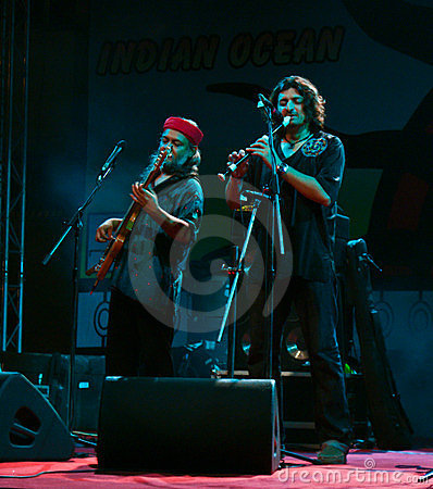 Indian music band performers live in concert Editorial Stock Image
