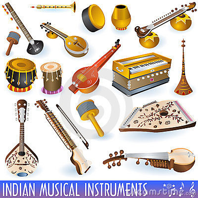 Free Indian Musical Collection Royalty Free Stock Photos - 13168668