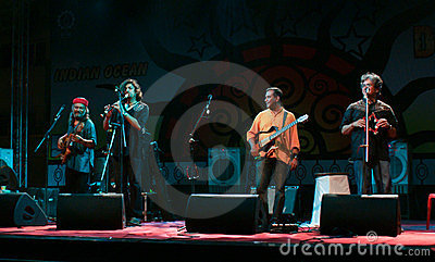 Indian Ocean band perfomers live in concert Editorial Stock Image